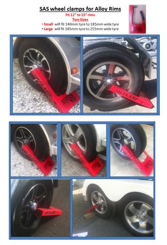 Sas alloy wheel clamp safe and secure products ltd for Safe and secure products
